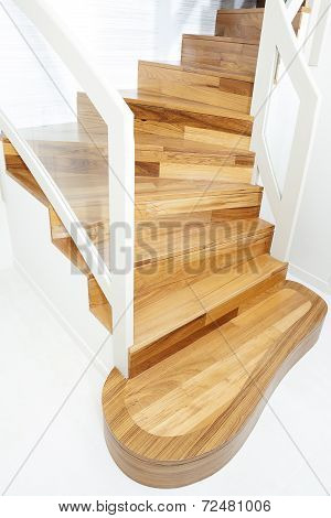 View Of Interior Wooden Stairs