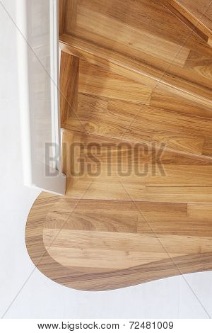 Part Of Interior Wooden Stairs