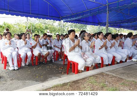 Rayong Vegetarian Festival In Rayong Province, Thailand.