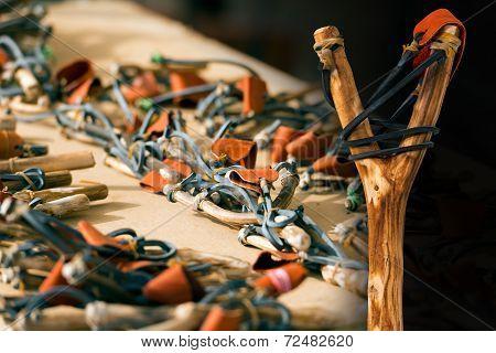 Handmade Wooden Slingshots