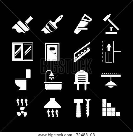 Set Icons Repair And Building