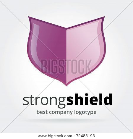 Abstract vector shield logotype isolated on white background