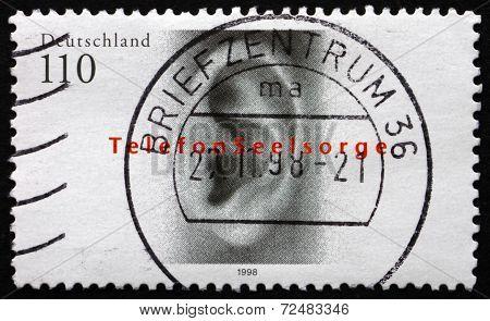 Postage Stamp Germany 1998 Human Ear