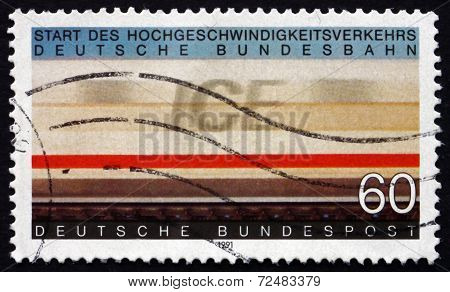 Postage Stamp Germany 1991 Inter-city Express Railway