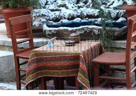 Interior Of Turkish Cafe