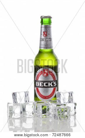 Beck's Bottle With Ice