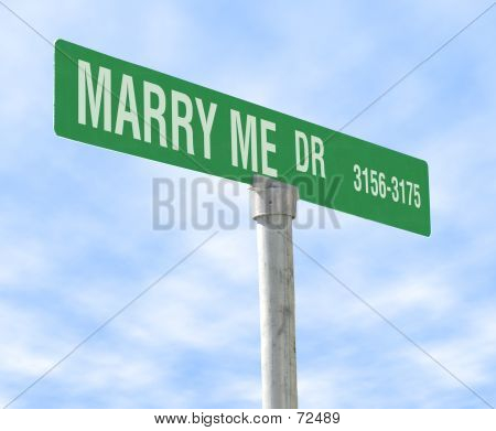 Marriage Theme Street Sign