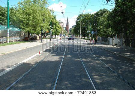 Fredry Street In Poznan, Poland