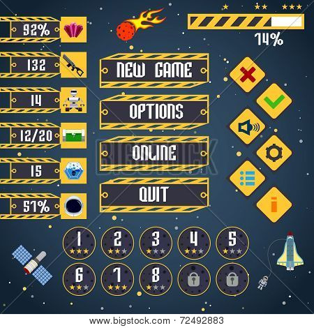 Space game interface