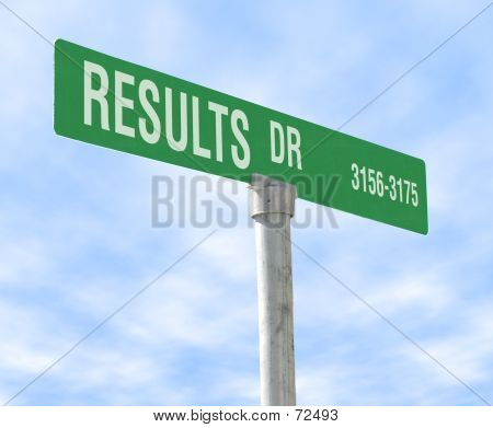Results Themed Street Sign