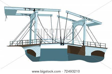 Old Bridge In Amsterdam