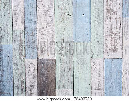 Pastel Wood Wall