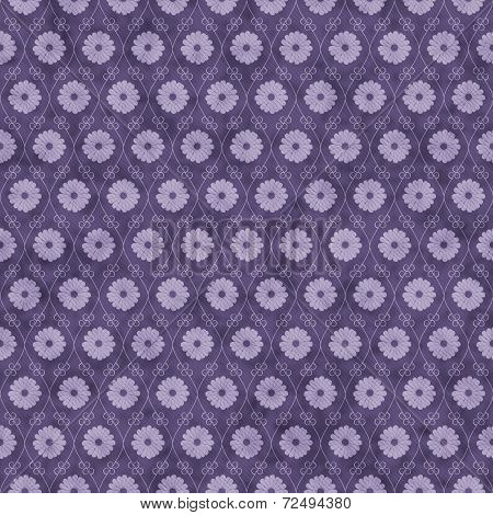 Purple Flower Repeat Pattern Background