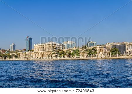 Dolmabahce palace - view from the Bosphorus