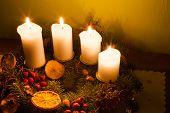 Image of advent season decorations.
