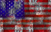 foto of lapis lazuli  - Abstract american flag from lapis lazuli background - JPG