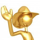 picture of buckaroo  - Cowboy Waving - JPG