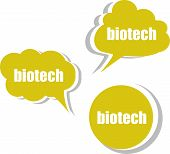 image of biotech  - biotech word on modern banner design template - JPG
