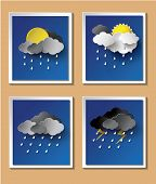 picture of rainy season  - Rainy season background with raindrops and clouds - JPG