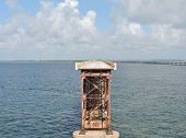 picture of mile  - The other side of the old oversees highway bridge in Bahia Honda State Park at mile marker 37 in Big Pine Key - JPG