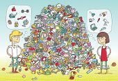 stock photo of riddles  - Find Objects Visual Game - JPG