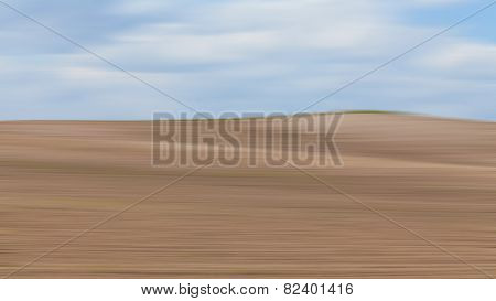 Abstract landscape farmland hill with motion blur