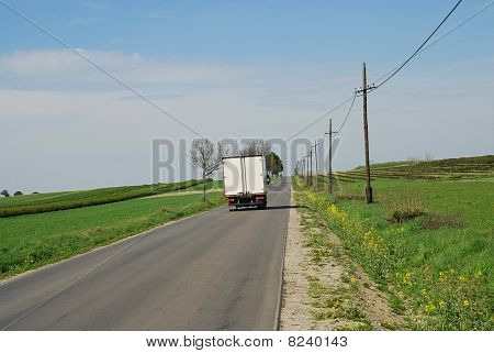 The Truck On Road