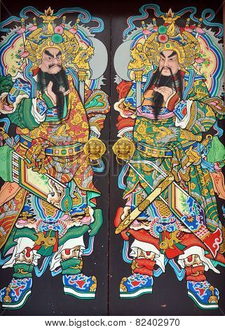 immortal of Chinese story on the door