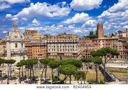 antique Rome, piazza Venezia