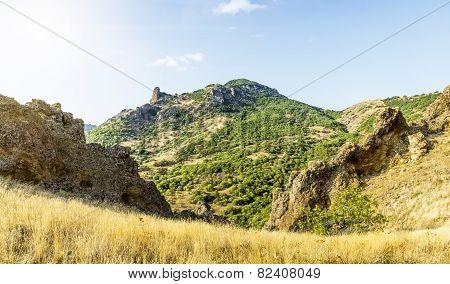 Crimea, Extinct Volcano Kara-dag Mountain Reserve