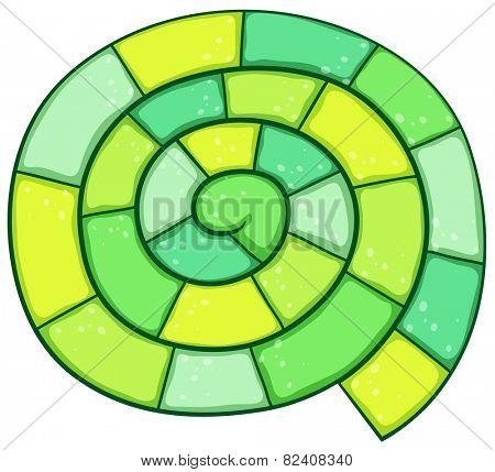 Illustration of a green spiral