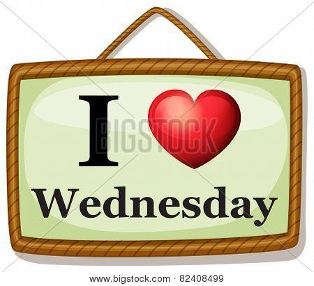Illustration of I love Wednesday