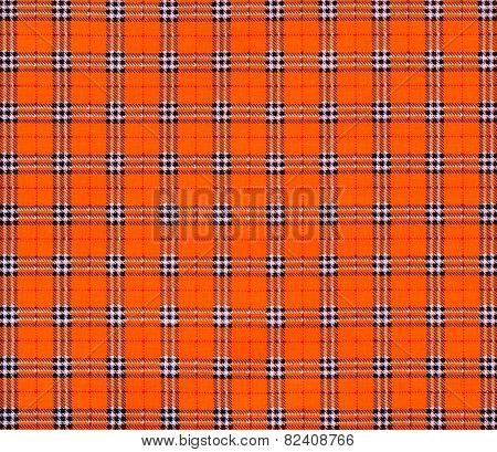 Texture Of Orange Tartan Plaid Textile Fabric