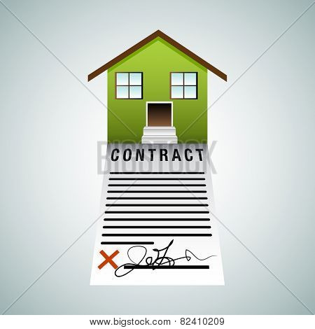 An image of a housing contract.