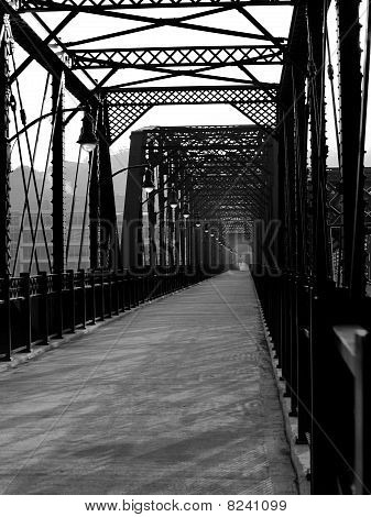 Iron bridge in Pittsburgh