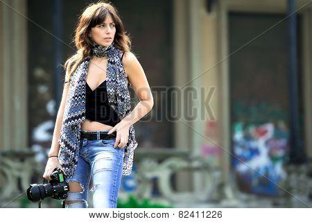 Beautiful Woman Photojournalist