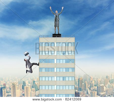 Businesswoman triumphes on the top