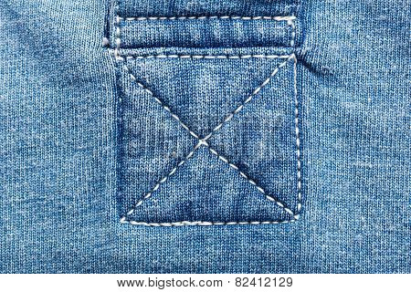 Jeans fabric seams