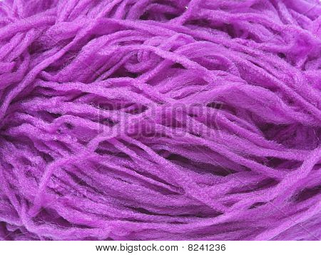 Violet Synthetic Yarn Closeup Photo