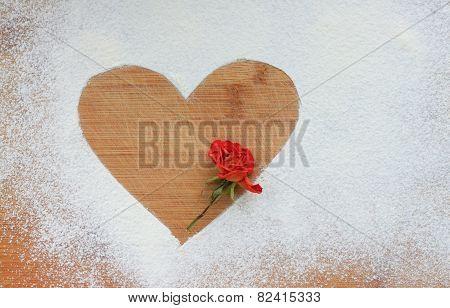 heart on flour with flower