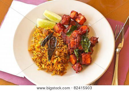Kadai Paneer With Tamarind Rice