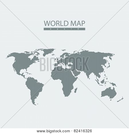 Vector world map atlas.