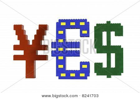 Currency Series Vote Yes For Euro Without Shadows