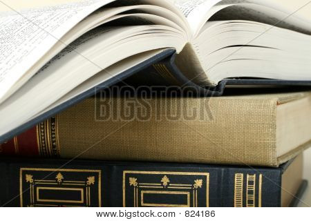 Open book stack