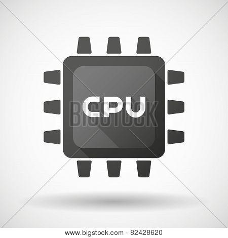 Black Cpu Icon