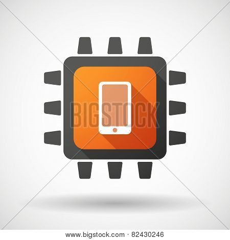Cpu Icon With A Bunch Of Photos