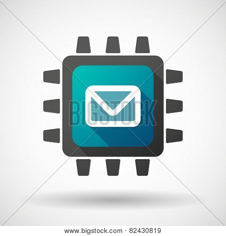 Cpu Icon With An Envelope
