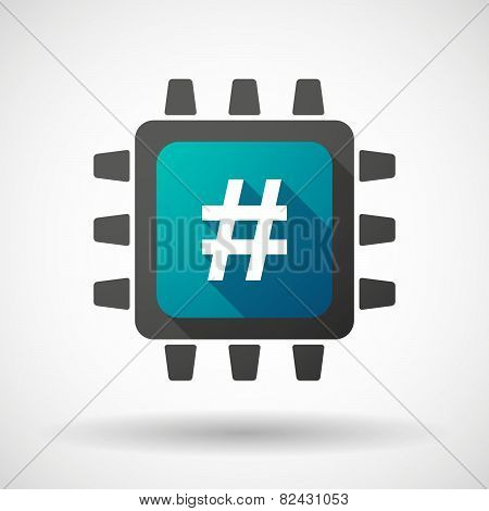 Cpu Icon With A Hash Tag