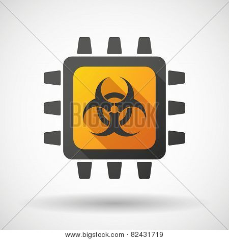 Cpu Icon With A Biohazard Sign