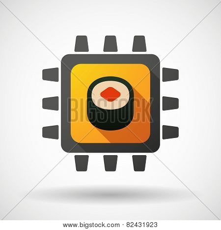 Cpu Icon With A Sushi